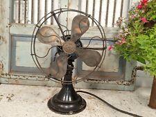 More details for vintage antique art deco gec magnet oscillating variable speed electric desk fan