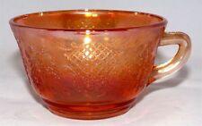 Federal Glass Depression Orange Iridescent Coffee Cup