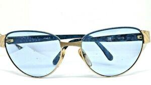 APRILIA EYEWEAR Sunglasses View Woman Vintage 80'S Italy Gold Blue Retro