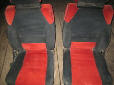 Toyota mr2 mk1 seats 1a red and black