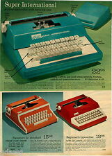 1974 PAPER AD Typewriter Super International Signature Jr Beginner's Manual Ward