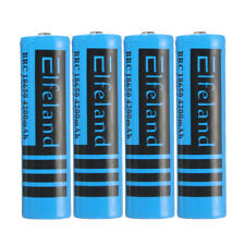 4x 4200mAh 3.7V 18650 Li-ion Rechargeable Battery For LED Torch Flashlight