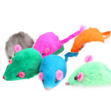5Pcs Colorful Rabbit Fur False Mouse Pet Kitten Cat Toy Mini Funny Playing Toys