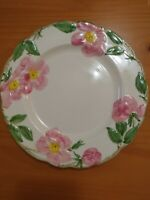 "VINTAGE DESERT ROSE BY FRANCISCAN POTTERY USA 9-1/2"" LUNCHEON PLATE"