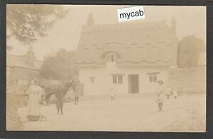 Postcard Blunsdon nr Swindon Wiltshire early village view RP
