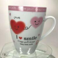 I Love Smile Mug W/ Heart Smile I Hope You'll Always Keep That Smile Tea Cup C32