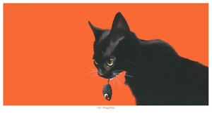 'The Mousetrap', Limited Edition Cat Print, Black Cat, Vic Bearcroft.