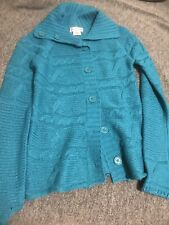 Pink angel cardigan sweater size medium 10/12 Girls Clothing