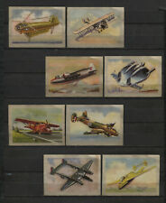 Nice Lot of 8 1951 Vintage Aircraft 1950s Dutch Trading Cards