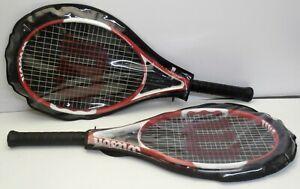 2x Wilson N6.3 Tennis Racket Hybrid + Cases