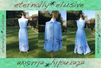 POMODORO Matching Summer Maxi Dress Jacket & Blouse Top Co Ord Suit Set Size 12