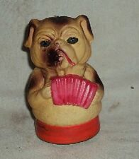Celluloid Musician Dog Collectible Toy Vintage Very Rare Made in Japan Item 1970