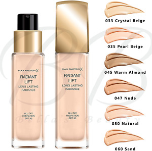 MAX FACTOR Radiant Lift Long Lasting Foundation SPF30 30ml *CHOOSE YOUR SHADE*