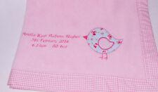 Girls Personalised Cot Nursery Blankets & Throws