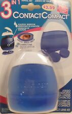 Contact Lens Kit 3 in 1 Travel Set Case Solution Holder Compact Blue