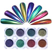 Chameleon Holographic Mirror Nail Art Glitter Powder Chrome Pigment Decoration