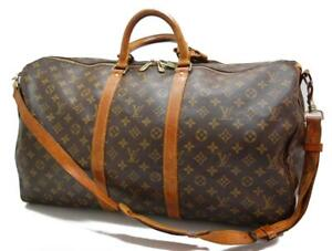 Authentic LOUIS VUITTON  MONOGRAM  KEEPALL 55 DUFFLE BAG VI871 0416a