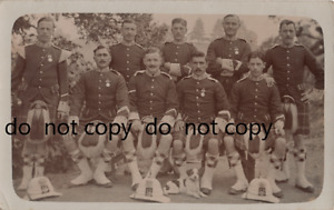 soldier group Seaforth Highlanders full dress puggaree flash wear medals India