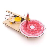 KE_ DIY Assembled Electric Plotter Drawing Model Physics Experiment Toy Novelt