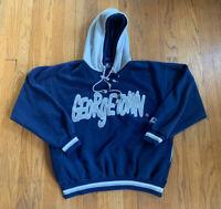 Georgetown Hoyas Vintage 90's Dual Hood Starter Sweatshirt Size M EUC Rare