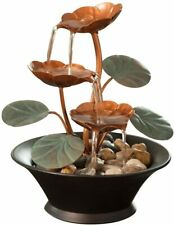 Indoor Water Fountain Living Room Decor Tabletop Relaxing Lily Waterfall Small