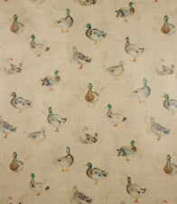 Voyage Decoration Paddling Ducks Linen Fabric! 53% Linen, 47% Cotton. IN STOCK!
