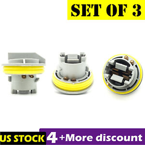 3pcs Tail Light Taillamp Rear Bulb Socket For JEEP Grand Cherokee Dodge