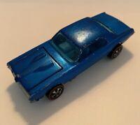 1967 Vintage Mattel Hot Wheels Redlines Cougar Blue