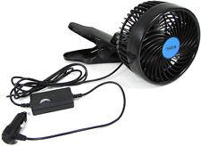 12 V Ventilator Lüfter für PKW Auto 15cm für Zigarettenanzünder mit Klemmfuss