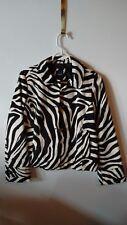 Gap Kids Girls XXL 14/16 Jacket Faux Fur Black White Zebra Print NWT