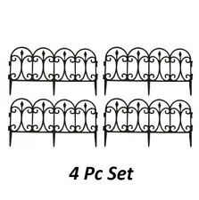 More details for flexible garden lawn grass edging picket border panel plastic wall fence 4 8 12