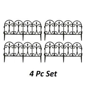 Flexible Garden Lawn Grass Edging Picket Border Panel Plastic Wall Fence 4 8 12