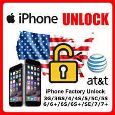 NETWORK UNLOCK CODE SERVICE FOR AT&T ATT IPHONE 4 4S 5 5S 6 6+ 6S 7 7+ Plus SE