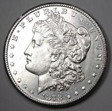 1878-CC Morgan Silver Dollar $1. Uncirculated Detail (UNC MS) - Carson City Coin