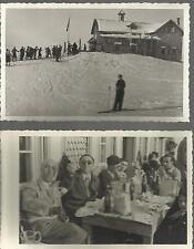 FOTOGRAFIE ORIGINALI / CARTOLINE _ PASSO ROLLE / CAPANNA CERVINO _CAPODANNO 1935