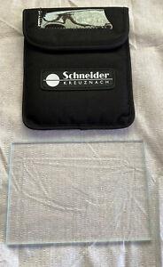 """Schneider 4x5.65"""" Clear Optical Flat Filter - Open box"""