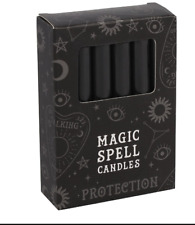Magic Spell Candle Black Protection - Pack of 12 Candles For Rituals Wicca