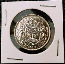 50 Cents 1952. George VI, Canada Silver (.8000), GORGIVS VI DEI GRATIA REX !