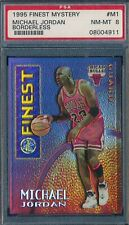 MICHAEL JORDAN 1995-96 TOPPS MYSTERY FINEST BORDERLESS REFRACTOR PSA 8 CARD #M1!