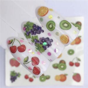 Cherry,Kiwi Fruits Nail Art Water Decal Transfer Sticker Nail Art
