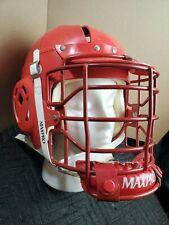 Vintage Maxpro Lacrosse Helmet Size Large Red