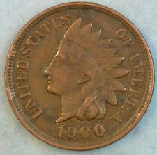 1900 Indian Head Cent Penny Liberty Very Nice Vintage Old Coin Fast S&H 36114