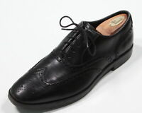 Cole-Haan Black Leather Grand Os Wingtip Lace up Dress Shoe Oxfords Mens US 10 M