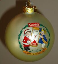 Campbell's Soups 1999 Glass Christmas Ball Ornament w/Box