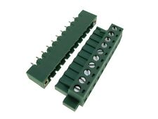 HQ 10-Pin 5.08mm Screw Terminal Block Plug Shrouded Flange Free Hanging