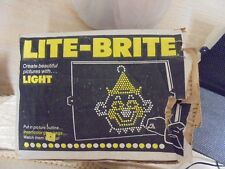 Vintage 1981 Hasbro WORKING Lite-Brite With  Extra Pegs and Pictures