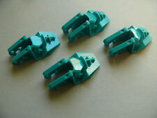 Lego 4 blocs turquoises set 8505 8502 / 4 dark turquoise technic block