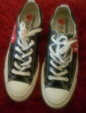 Converse Play Comme des Garcons Size 8 Black Sneaker Low Sneakers