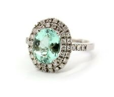 Seafoam colored tourmaline diamond Ring Vintage Estate Fine Jewelry Holiday Gift