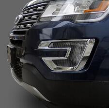Chrome Front Bumper Fog molding cover trim for 2016 new Explorer Ford